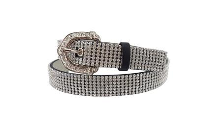 Distress Embossed Leather Belt 93ed503d-7352-42a6-bc31-177492bd334b