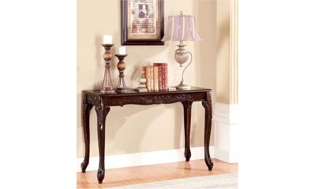 Vectori Dark Cherry Traditional Sofa Table d0538410-8be7-4d8d-9470-7ddce64d8d5e