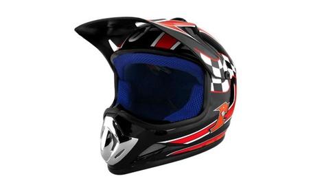 RS Helmets RS-8696-BlackRed-YL Off Road Motocross Motorcycle Helmet 6e83c235-d42e-4b71-8169-9f33b9c1fdf0