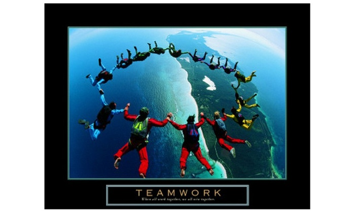 teamwork skydivers ii groupon. Black Bedroom Furniture Sets. Home Design Ideas