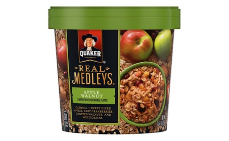 Quaker Real Medleys Oatmeal+, Apple Walnut, Instant Oatmeal+ Breakfast add90b95-89d6-4e8a-8ef9-1e68e106adf3