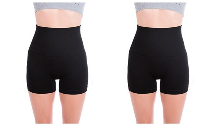 Premium Women's Tummy Control Fitness Workout Running Short Shorts