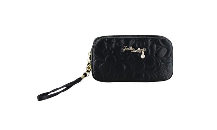 Jacki Design Royal Blossom Cosmetic Bag W/ Wristlet