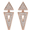 Crystal Triangle Rose Gold-Plated Drop Earrings