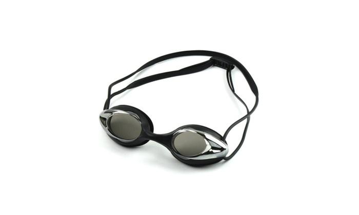 Hontox swim goggle silver coated adjustable unisex no leaking Anti Fog
