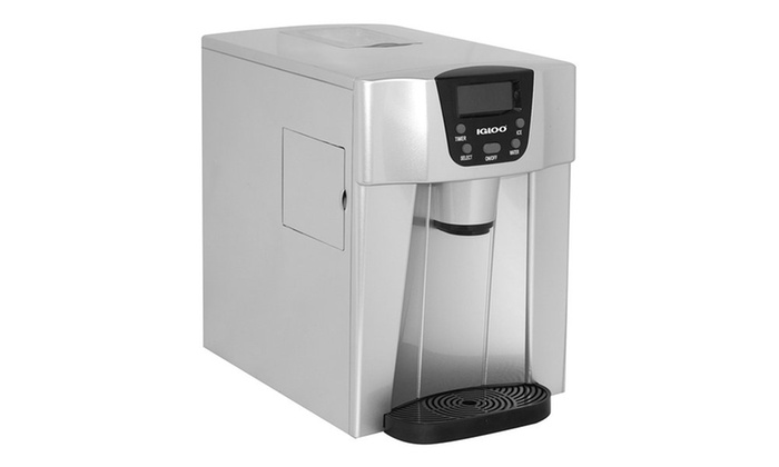 Igloo Ice227 Silver Compact Ice Maker And Water Dispenser
