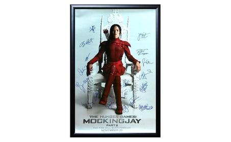 The Hunger Games Mockingjay Part 2 - Signed Poster 27x41 Framed + COA 7c0ab5f3-3e43-41e4-b512-920204e82e0f