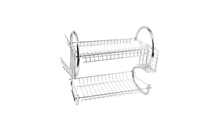 Kitchen holder 2Tier Stainless Steel Dish Drainer Drying Rack 1e432504-cd84-400a-86ec-a8c6019eb90c