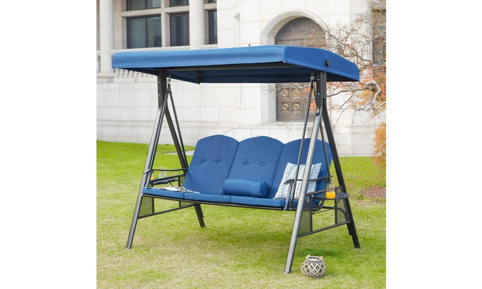 Outdoor 3 Seater Swing Chair Groupon