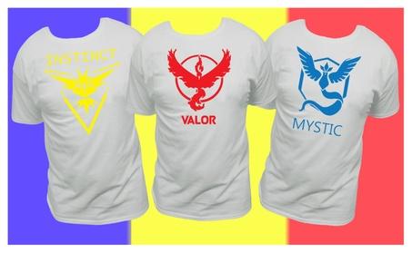 Team Valor, Instinct, Mystic, red, yellow, blue, pokemon go, T-Shirt 3f26b2be-2306-4bf0-9589-9ec91dd0396c