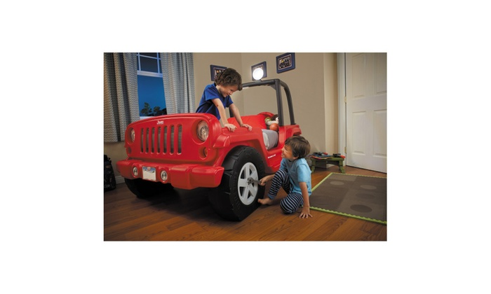 Red United Express Little Tikes Jeep Wrangler Toddler To Twin Convertible Bed