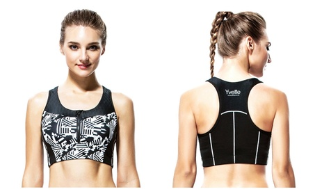 Yvette High Impact Running Fitness Print Racerback Sports Bra H0300007 ce7719c1-6f00-4010-b8b9-555b9070b3b8