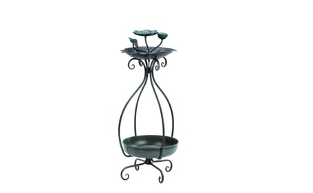 Bird Feeder And metal Plant Stand (Goods Outdoor Décor Bird Feeders & Baths) photo