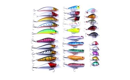 30 PCS Minnow Popper Crankbait Fishing Lure Set 266c2a6a-a5eb-4f95-a78f-00831b3bc466