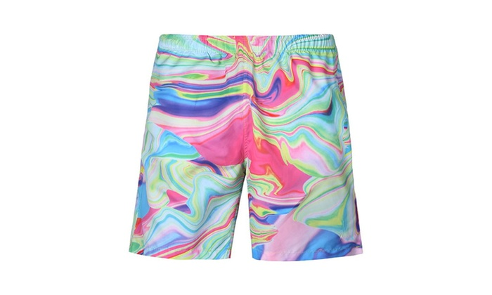 3LING Men's Beach Shorts with Pockets Summer Boardshort Shorts