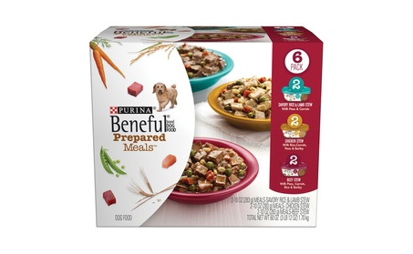 Purina Beneful Prepared Meals Stew Variety Pack Wet Dog Food, (6) 10 o 1f2334ec-0d9b-4280-bcbf-e0a44ade052b