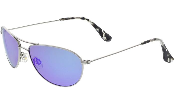 8364a04db774 Maui Jim Men's Polarized Baby Beach B245-17 Blue Aviator Sunglasses ...