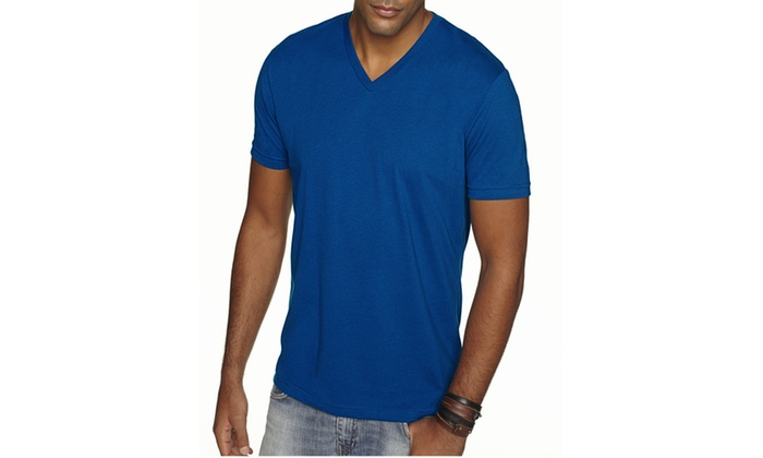 NLA Premium Sueded V-Neck T-Shirt, 6440-2