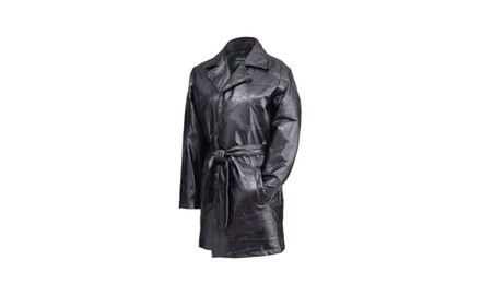 Ladie's Chic 3/4 Length Genuine Leather Jacket