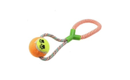 AGPtek Rope Dog Toy Chewing Toy with Tennis Ball Chewing Toy Chewing 048728fd-6014-479b-94f3-55e6d62ec0ef