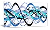 Blue and Silver Waves  - Contemporary Wall Art