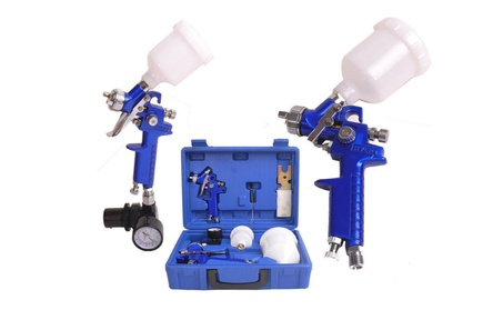 0.8 & 1.4 Nozzle Paint Primer HVLP 2-Spray Guns Kit Auto Gravity Feed 13585cf5-02e6-4ec0-821d-96590e77bdc7