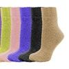 Women's Fuzzy Crew Soft Socks Winter Warm (6 Pairs)