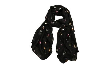 Women Butterfly Print Long Wrap Shawl Stole female scarves 4bfbfae6-d5a2-4889-9258-97c93c9952dd