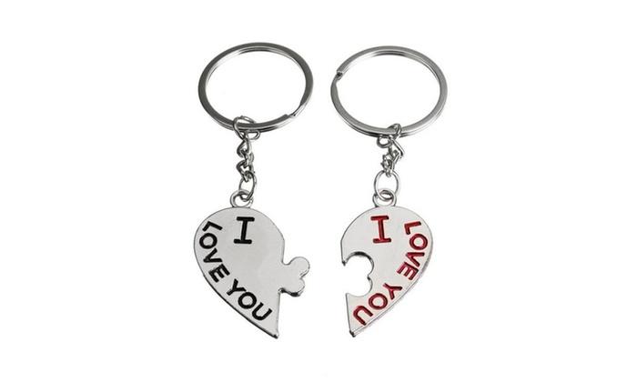 1 Pair Kissing Love Heart Keychain Keyring Keyfob Valentine S Day