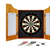 Solid Wood Dart Cabinet Set - Pro Style Board and Darts