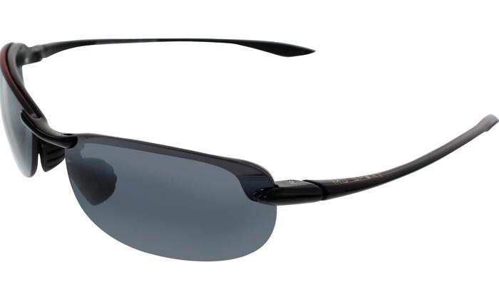 d1ef2a4288fb4 Maui Jim Men s Makaha 405-02 Black Semi-Rimless Sunglasses 405-02   Black    64mm   Black
