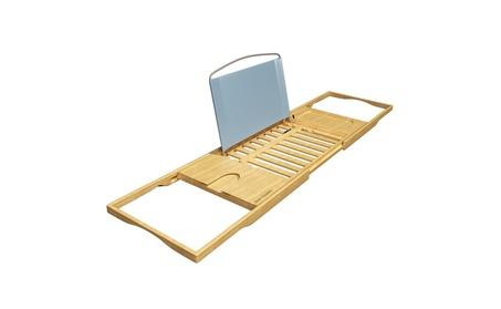 Bath Dreams Luxury Bamboo Bathtub Caddy Tray with Extending Sides e49d8487-b64b-4554-ba08-b91224bcb90e