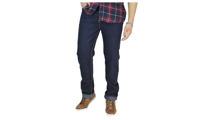 Men's Classic Navy Straight Fit Jeans