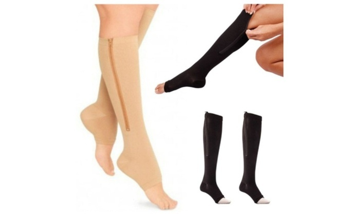 9c70bdc400 Up To 28% Off on Compression Socks Toe Open Le... | Groupon Goods