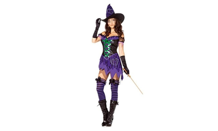 LIYT Women's Halloween Costume Cosplay Witch Costume