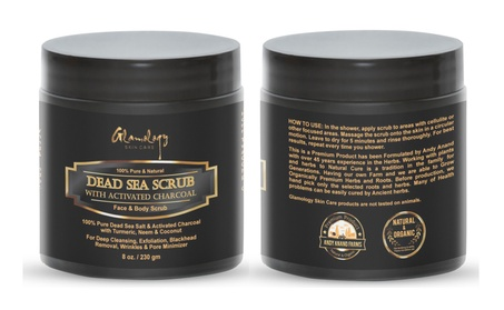 Glamology Activated Charcoal Dead Sea Scrub For Face & Body Cleansing ce2a7614-be0f-4add-8b42-a761e24ee648