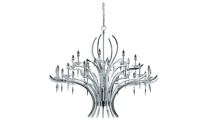 Mayfield Collection 24-Light Chrome Plated Chandelier