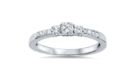 1/3 CT Three Stone Round Diamond Engagement Ring 14K White Gold 8800c5db-4eb5-4bec-8f30-48f411c2ddad