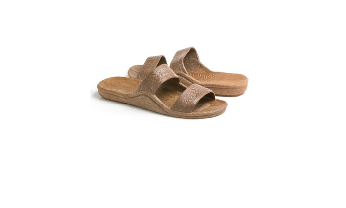 Pali Hawaii Adult Classic Jandal Sandals For Men & Women - Color Brown