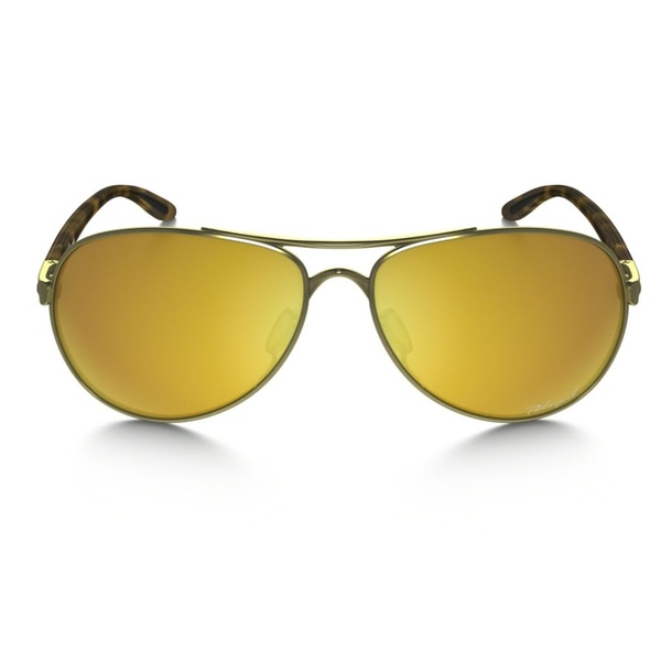 a8367b3da250b Oakley Tie Breaker Pilot Women Sunglasses OO4108-13 Gold   24K Iridium  Polarized