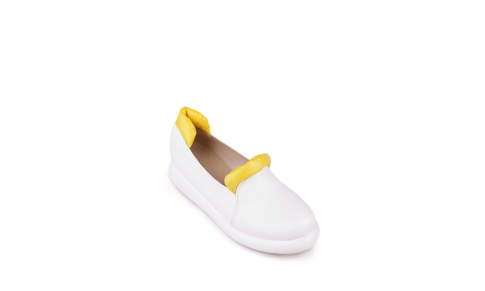 DPN Women's Casual Leather Loafer Shoes Slip-On