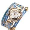 Crystal Design PU Leather Strap Quartz Watch for Women