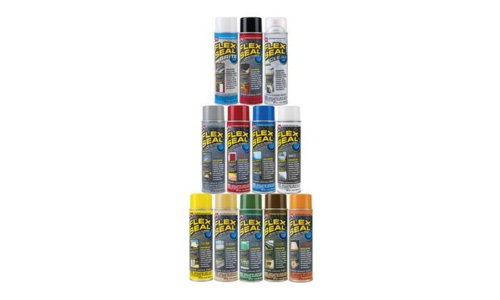 Spray Rubber Seal >> Flex Seal Spray Rubber Sealant Coating 14 Oz Groupon