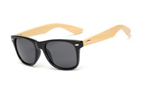 Vintage Wooden Frame Polarized UV Protection Mirror Unisex Sunglasses 585dd485-c521-4e97-b31f-90d94fe97d98