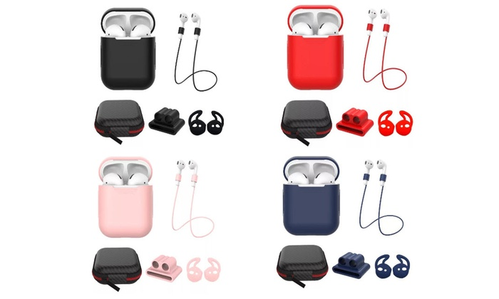Up To 80 Off On Airpod Case 5 In 1 Silicone P Groupon Goods