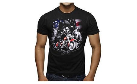American Wolf Pack Biker Gang Men's T-Shirt 9976a06a-bbb0-442b-abd9-791c3aa4d354