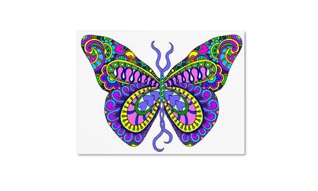 Kathy G. Ahrens 'Bashful Garden Butterfly Blooming' Canvas Art 17251173-4a0c-40f7-923f-06c7f0554221