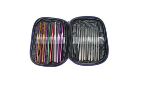 Aluminum Crochet Hooks 22pcs Multi Color Weave Yarn Craft Needles Knit