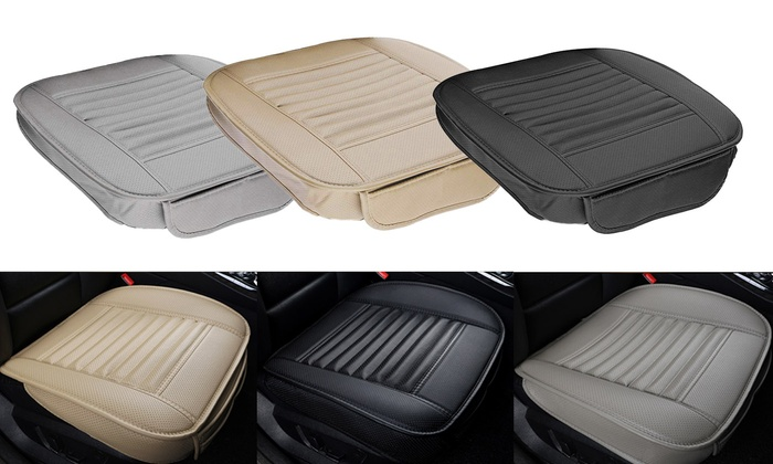 Gray Breathable Bamboo Charcoal Car Seat Cushion Cover Full Surround Protect Pad