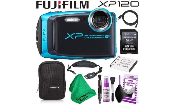 Fujifilm Finepix Xp120 600019758 Waterproof Digital Camera Sky Blue Budget Frien